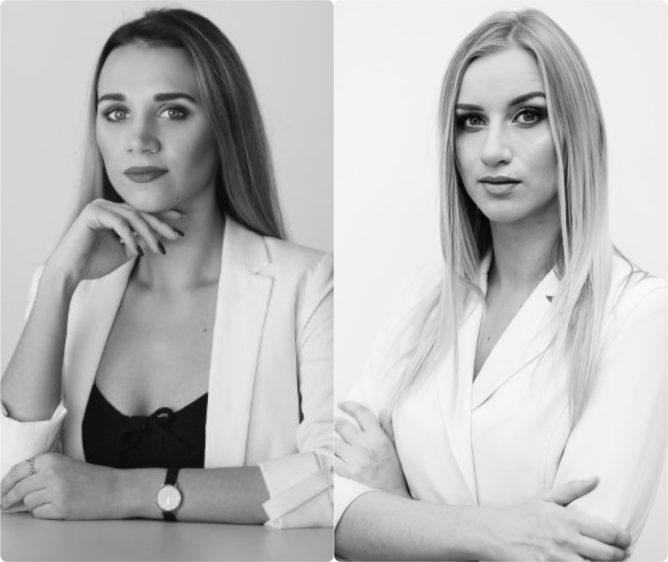 Teisės projektai įkūrėjos – Greta Bendaravičiūtė (kairėje) ir Ieva Miknevičiūtė (dešinėje)
